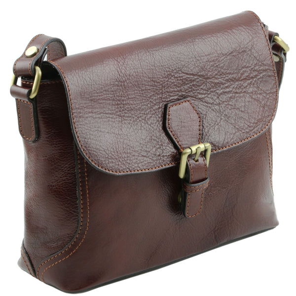 Tuscany Leather Classic 'Jody' Leather Shoulder Bag With Flap - Special Offer Ladies Shoulder Bag Tuscany Leather