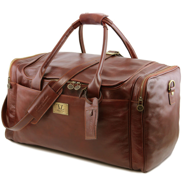 Tuscany Leather 'TL Voyager' Travel Leather Duffle Bag - Large (TL141281) Duffle Bag Tuscany Leather