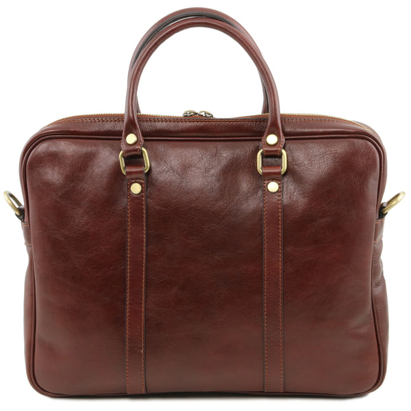 Tuscany Leather 1st Class Exclusive 'Prato' Leather Laptop Carry Briefcase Laptop Briefcase Tuscany Leather