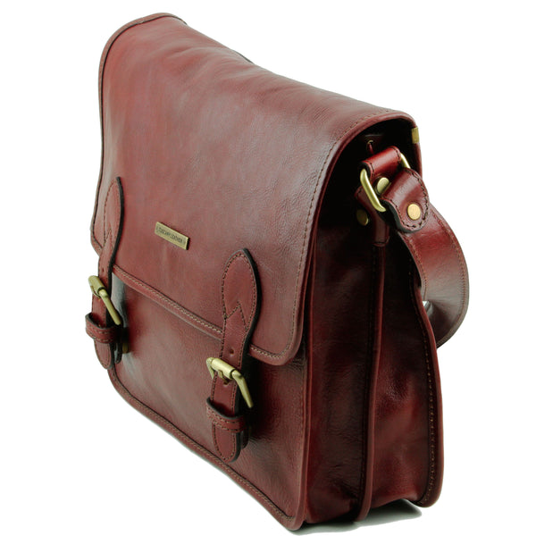 Tuscany Leather 'Postman' Leather Briefcase/Messenger Bag Laptop Briefcase Tuscany Leather
