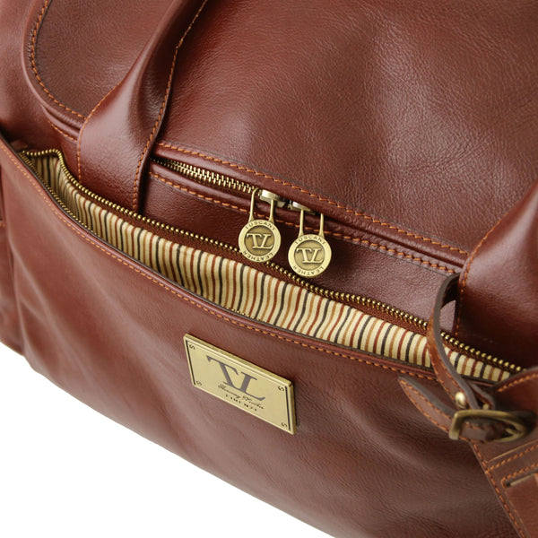 Tuscany Leather 'TL Voyager' Travel Leather Duffle Bag - Medium (TL141296) Duffle Bag Tuscany Leather