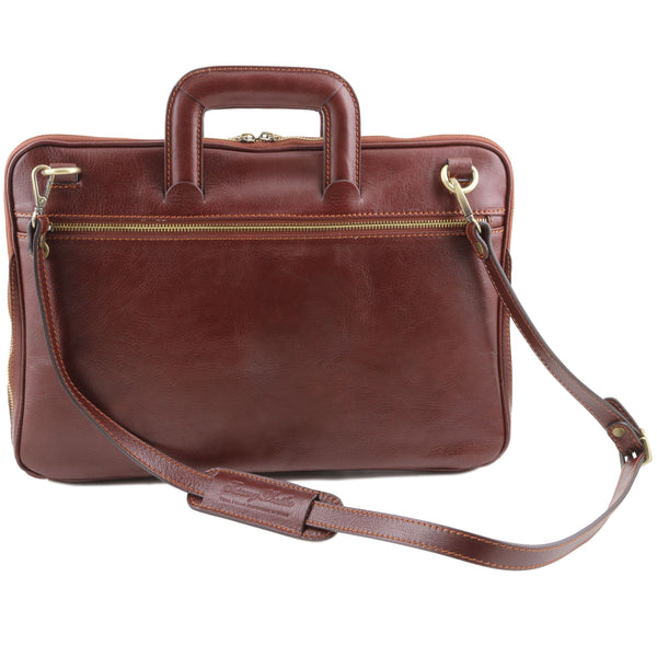 Tuscany Leather 'The Caserta' Leather Document Briefcase Laptop Briefcase Tuscany Leather