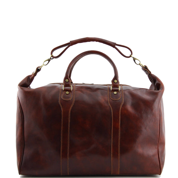 Tuscany Leather Traveller 'The Amsterdam' Leather Weekend Duffle Bag Duffle Bag Tuscany Leather