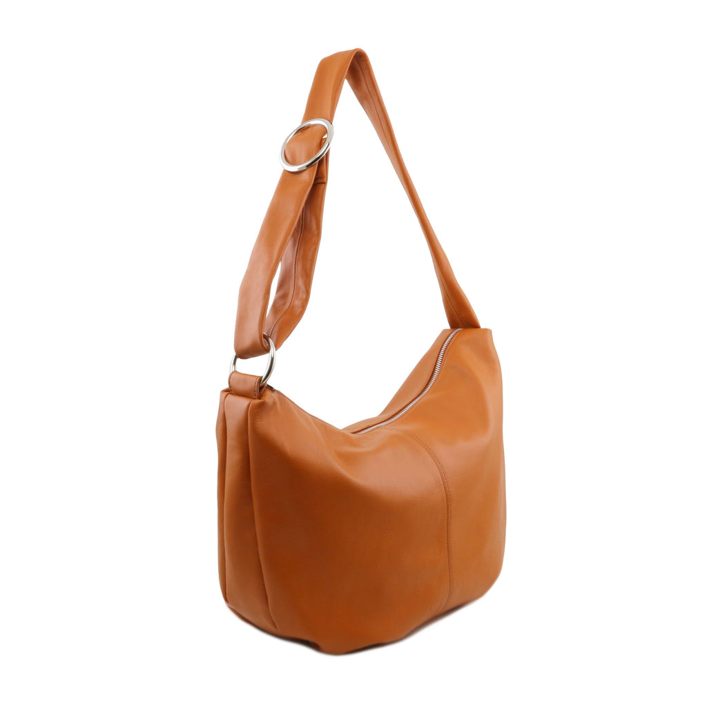 7436ead95459 Tuscany Leather  Yvette  Soft Leather Hobo Bag (TL140900) – Made in ...