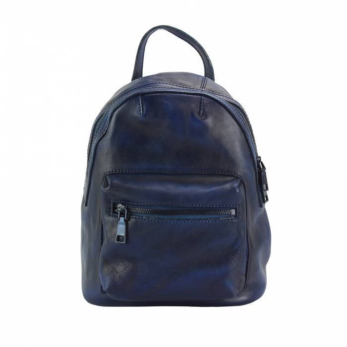Made In Tuscany 'Teresa' Leather Backpack Backpack Made in Tuscany Dark Blue