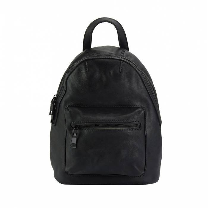 Made In Tuscany 'Teresa' Leather Backpack Backpack Made in Tuscany Black