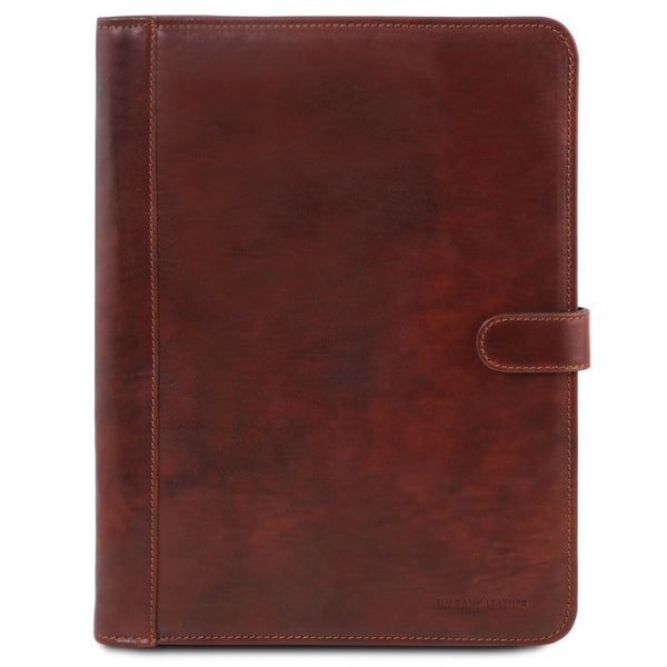 Tuscany Leather 1st Class 'Ottavio' Leather Document Case Leather Document/Portfolio Case Tuscany Leather Brown
