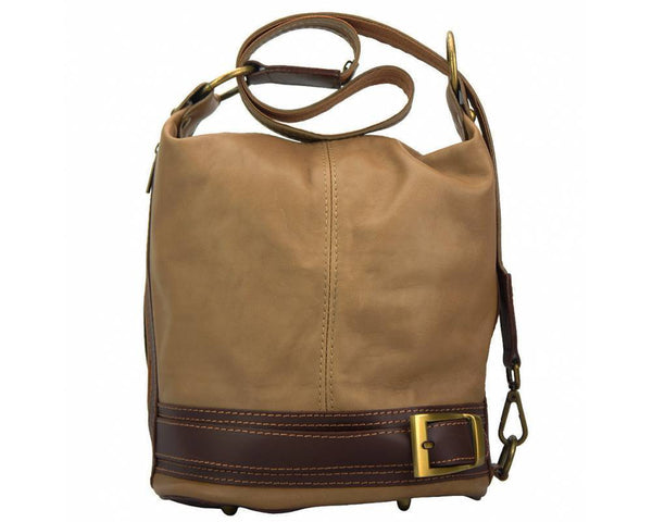 Made In Tuscany 'Caterina' Leather Backpack Backpack Made in Tuscany Light Taupe/Brown