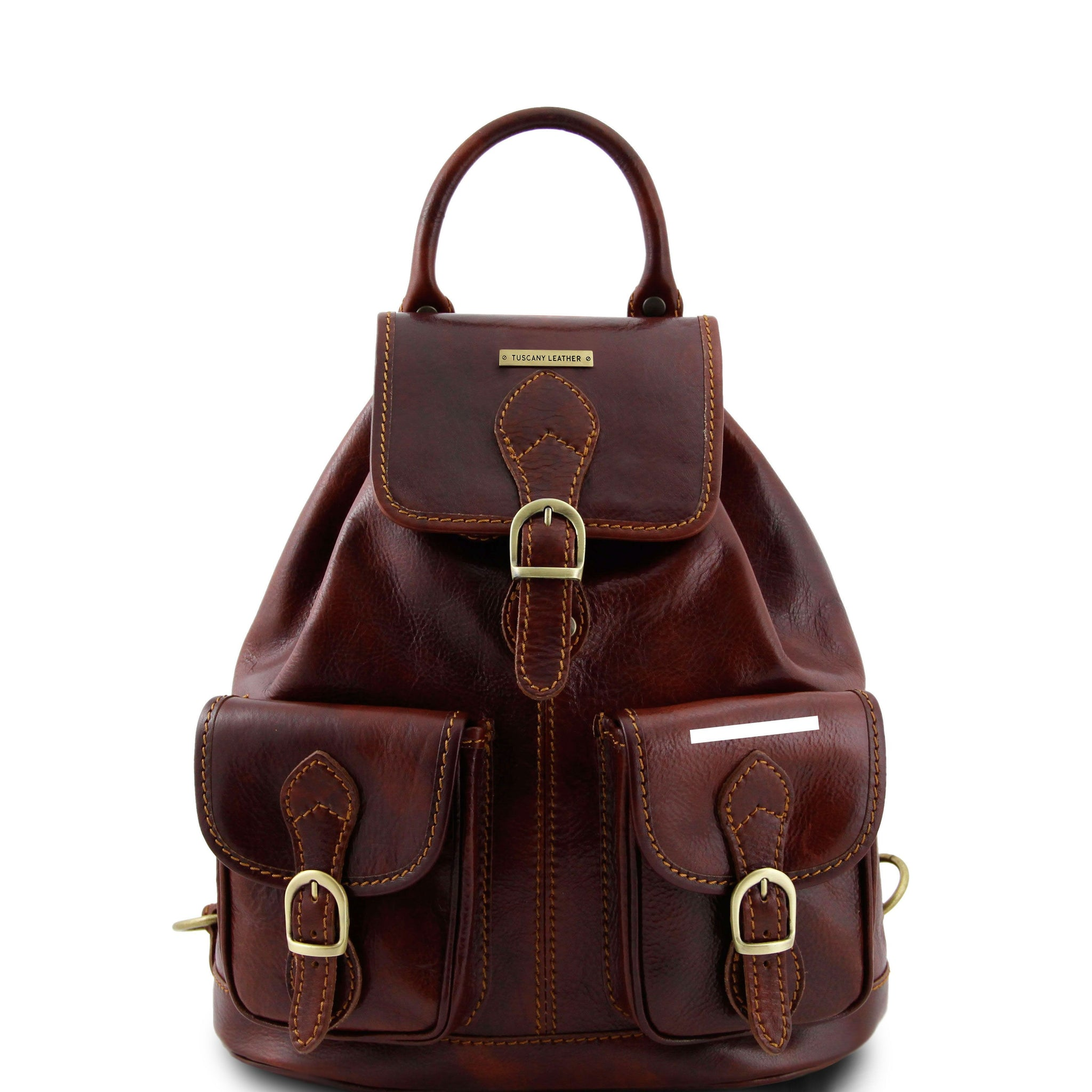 Tuscany Leather 'Tokyo' Leather Backpack Backpack Tuscany Leather Brown