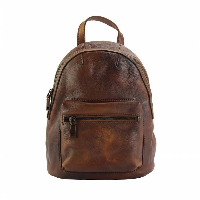 Made In Tuscany 'Teresa' Leather Backpack Backpack Made in Tuscany Brown