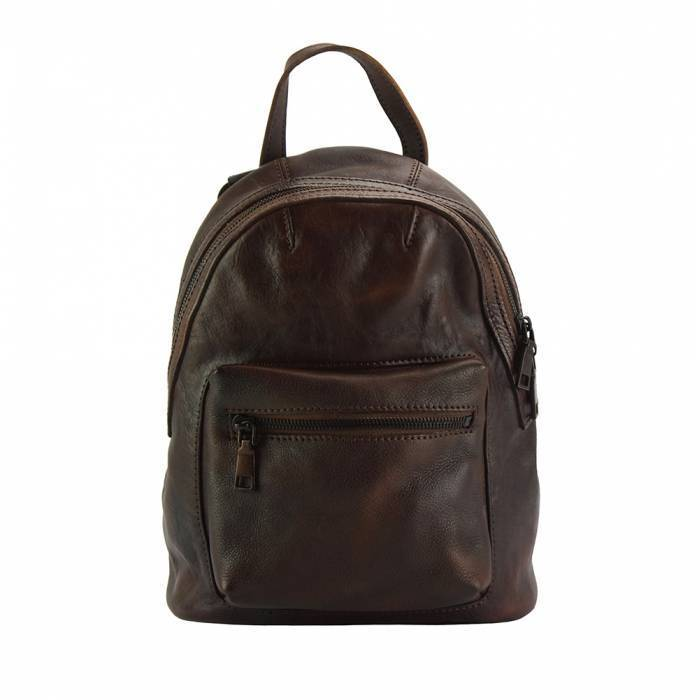 Made In Tuscany 'Teresa' Leather Backpack Backpack Made in Tuscany Dark Brown