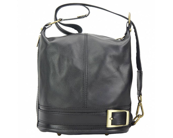 Made In Tuscany 'Caterina' Leather Backpack Backpack Made in Tuscany Black