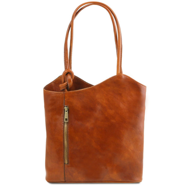 Tuscany Leather Patty Leather Convertible Bag/Backpack Ladies Shoulder Bag Tuscany Leather Honey