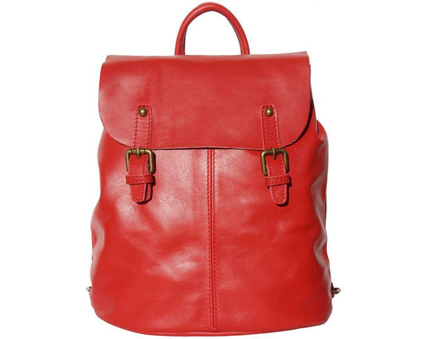 Made In Tuscany 'Vara' Leather Backpack Backpack Made in Tuscany Light Red