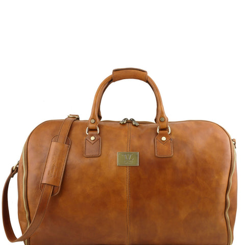Tuscany Leather Antigua Leather Garment/Suit Carrier and Duffel Combo