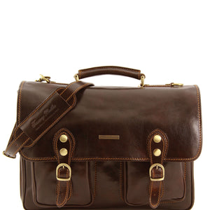 Tuscany Leather 'Modena' Leather Briefcase Laptop Briefcase Tuscany Leather Dark Brown