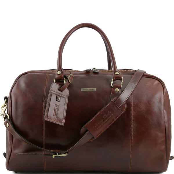 Tuscany Leather 'TL Voyager' Travel Leather Duffle Bag - Medium (TL141218) Duffle Bag Tuscany Leather Brown