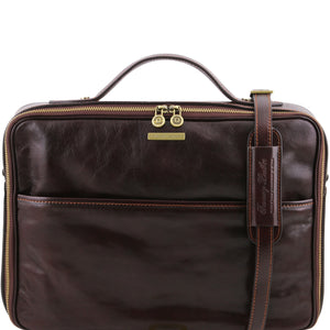 Tuscany Leather 1st Class 'Vicenza' Leather Laptop Briefcase