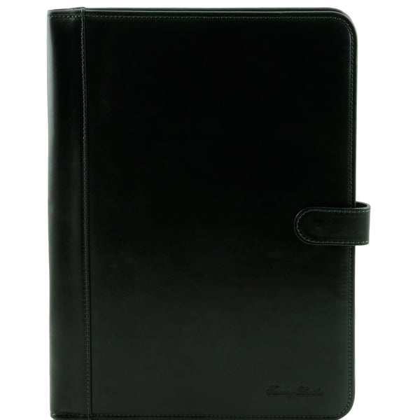 Tuscany Leather 'Adriano' Exclusive Leather Document Case Leather Document/Portfolio Case Tuscany Leather Black