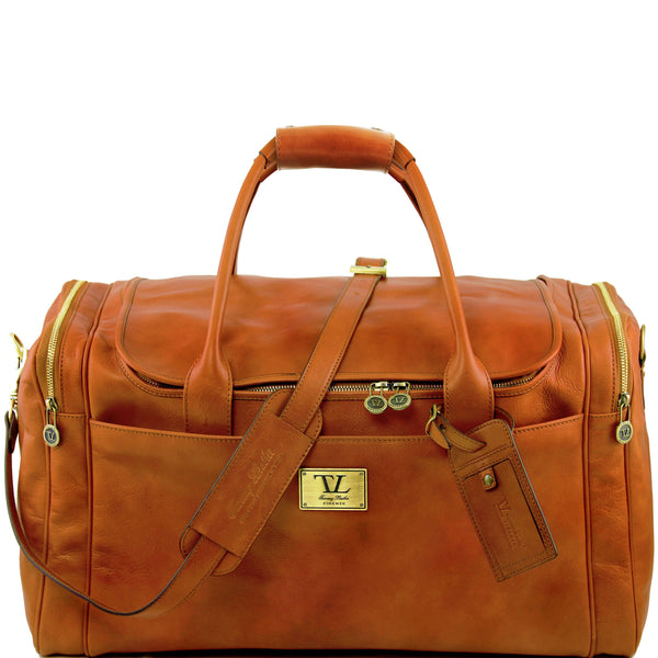 Tuscany Leather 'TL Voyager' Travel Leather Duffle Bag - Large (TL141281) Duffle Bag Tuscany Leather Honey