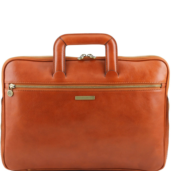 Tuscany Leather 'The Caserta' Leather Document Briefcase Laptop Briefcase Tuscany Leather Honey