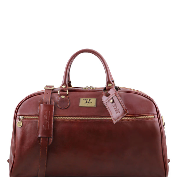 Tuscany Leather 'TL Voyager' Leather Travel Duffle Bag - Large (TL141422) Duffle Bag Tuscany Leather Brown