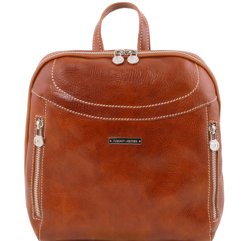 Tuscany Leather 'Manila' Leather Backpack Backpack Tuscany Leather Honey