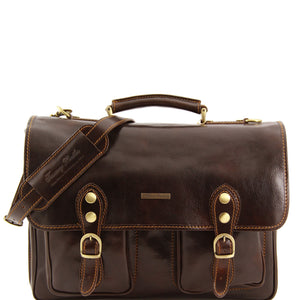 Tuscany Leather 'Modena' Leather Briefcase (Large 15'') Laptop Briefcase Tuscany Leather Dark Brown