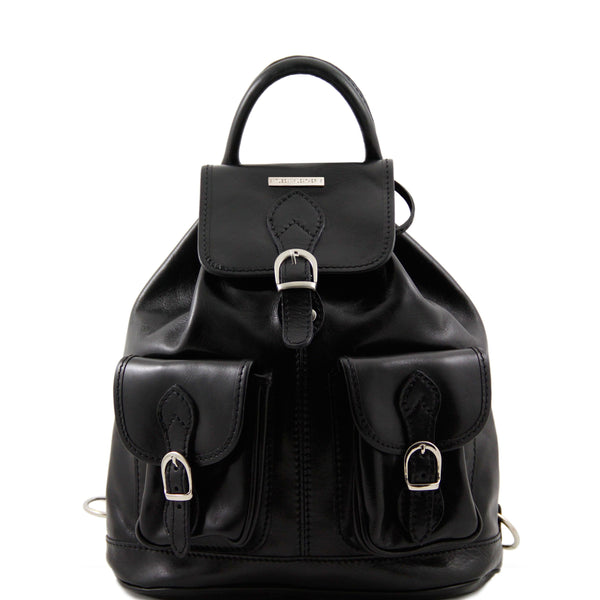 Tuscany Leather 'Tokyo' Leather Backpack Backpack Tuscany Leather Black