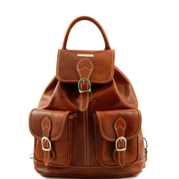 Tuscany Leather 'Tokyo' Leather Backpack Backpack Tuscany Leather Honey