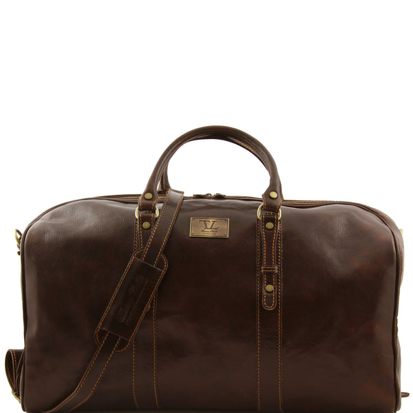 Tuscany Leather 'Francoforte' Exclusive Leather Travel Bag (Large) Duffle Bag Tuscany Leather Dark Brown