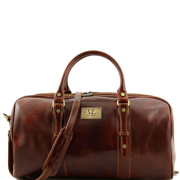 Tuscany Leather 'Francoforte' Exclusive Leather Travel Bag (Small) Duffle Bag Tuscany Leather Brown