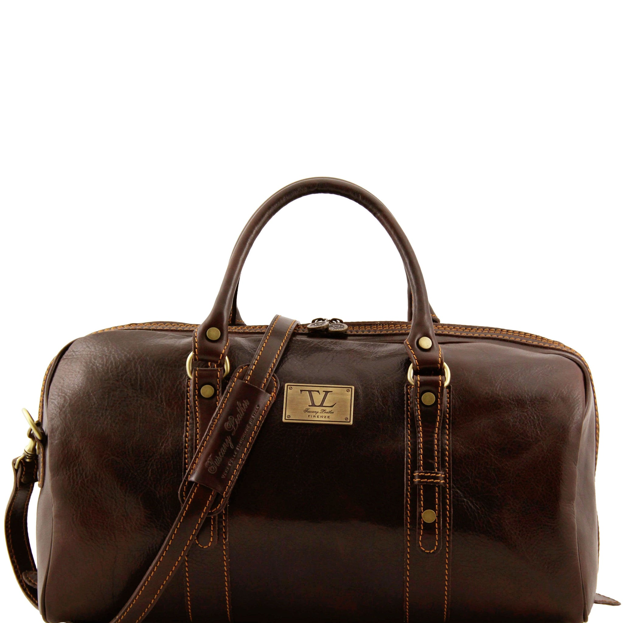 Tuscany Leather 'Francoforte' Exclusive Leather Travel Bag (Small) Duffle Bag Tuscany Leather Dark Brown