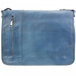 Made In Tuscany 'Grigori' Leather Messenger Bag Messenger Bag Made in Tuscany Dark Blue