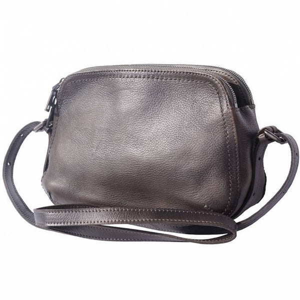 Made In Tuscany 'Twice' Leather Cross-Body Bag Crossbody Bag Made in Tuscany