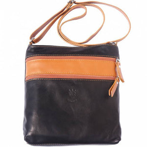 "Made in Tuscany ""Chiara"" Leather Cross-body Shoulder Bag"