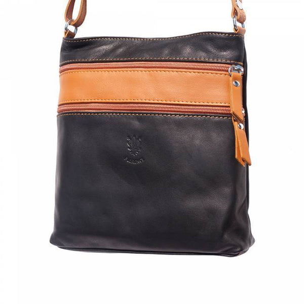 "Made In Tuscany ""Chiara"" Leather Cross-Body Shoulder Bag Crossbody Bag Made in Tuscany"
