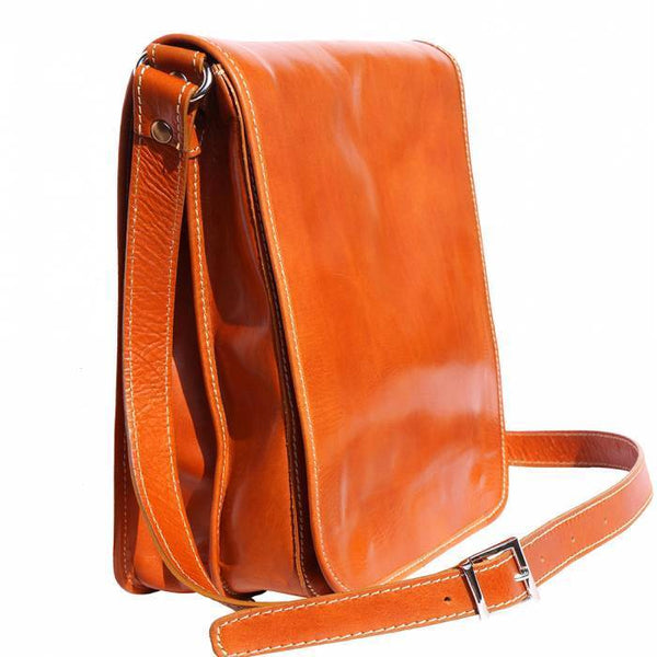 Made In Tuscany 'Mirko Mm' Leather Messenger Shoulder Bag Messenger Bag Made in Tuscany