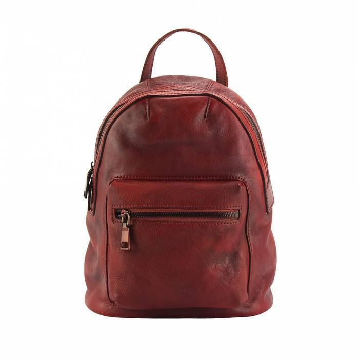 Made In Tuscany 'Teresa' Leather Backpack Backpack Made in Tuscany Dark Red
