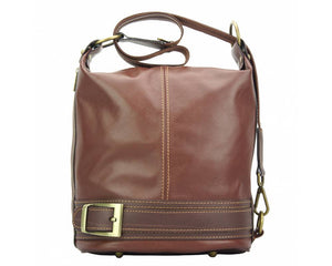 Made In Tuscany 'Caterina' Leather Backpack Backpack Made in Tuscany Brown