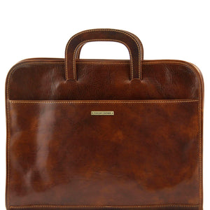Tuscany Leather 'Sorrento' Exclusive Document Leather Briefcase Laptop Briefcase Tuscany Leather Brown