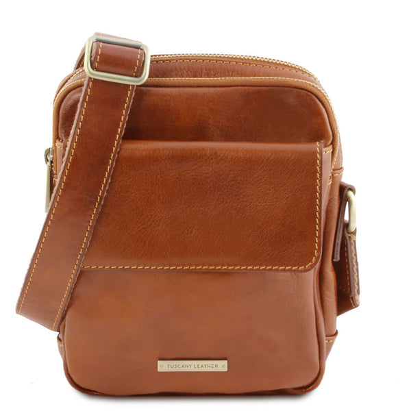 Tuscany Leather  'Larry' Leather Cross-body Bag