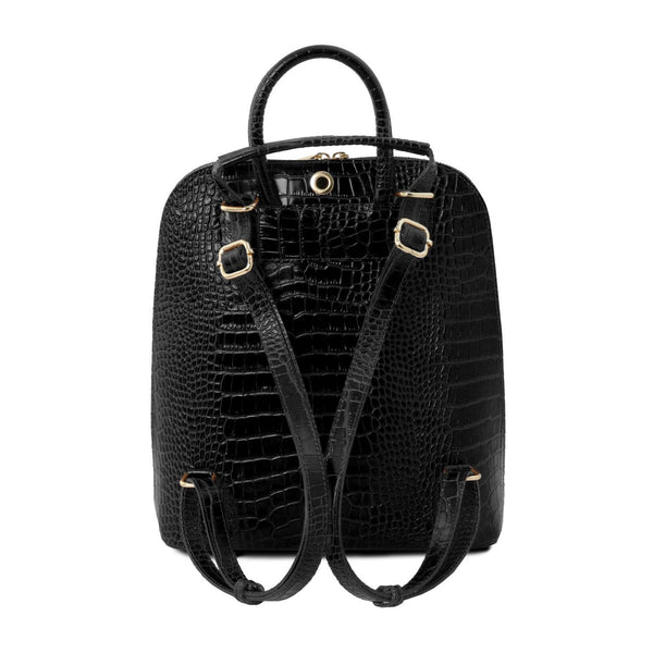 Tuscany Leather 'TL Bag' Croc Print Leather Backpack for Women