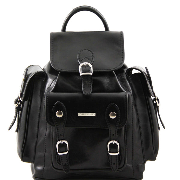 Tuscany Leather 'Pechino' Backpack Backpack Tuscany Leather Black