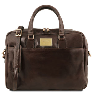 Tuscany Leather 'Urbino' Leather Laptop Carry Briefcase Laptop Briefcase Tuscany Leather Dark Brown