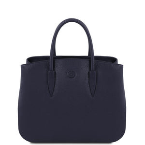Tuscany Leather 'Camelia' Leather Handbag Ladies Shoulder Bag Tuscany Leather Dark Blue