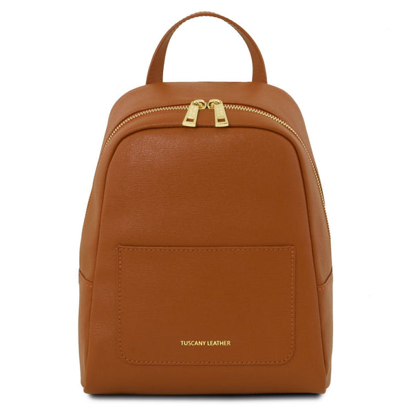 Tuscany Leather 'TL Bag' Small Saffiano Leather Backpack For Women (Small)