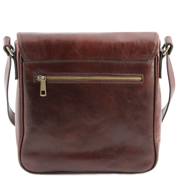 Tuscany Leather 'TL Messenger' One Compartment Leather Shoulder Bag Messenger Bag Tuscany Leather