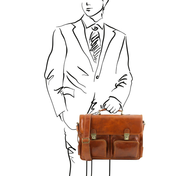 Tuscany Leather 'Ventimiglia' Leather Laptop Briefcase (Smart Module) Briefcase Tuscany Leather