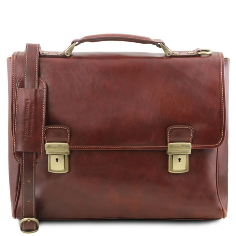 Tuscany Leather Trieste Exclusive Leather Laptop Case (Sale) - Made in Tuscany